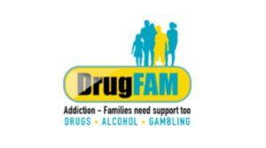 Logo for the charity DrugFAM